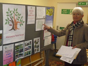 Jane on the Alexandra Park Forum stand